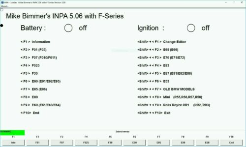 BMW INPA 5.0.6 ONE CLICK INSTALL NCS EXPERT BMW CODING TOOL 32 WINFKP SOFTWARE