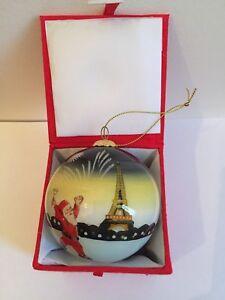 CHRISTMAS ORNAMENTS PARIS FRANCE EIFFEL TOWER MONUMENT ...