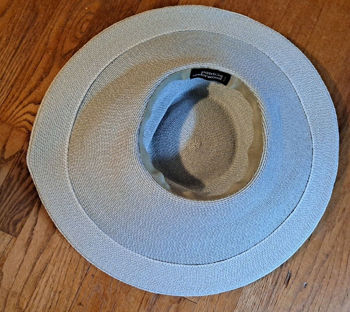 Vtg Patricia Underwood Pale Aqua Straw Hat/Gray S… - image 9