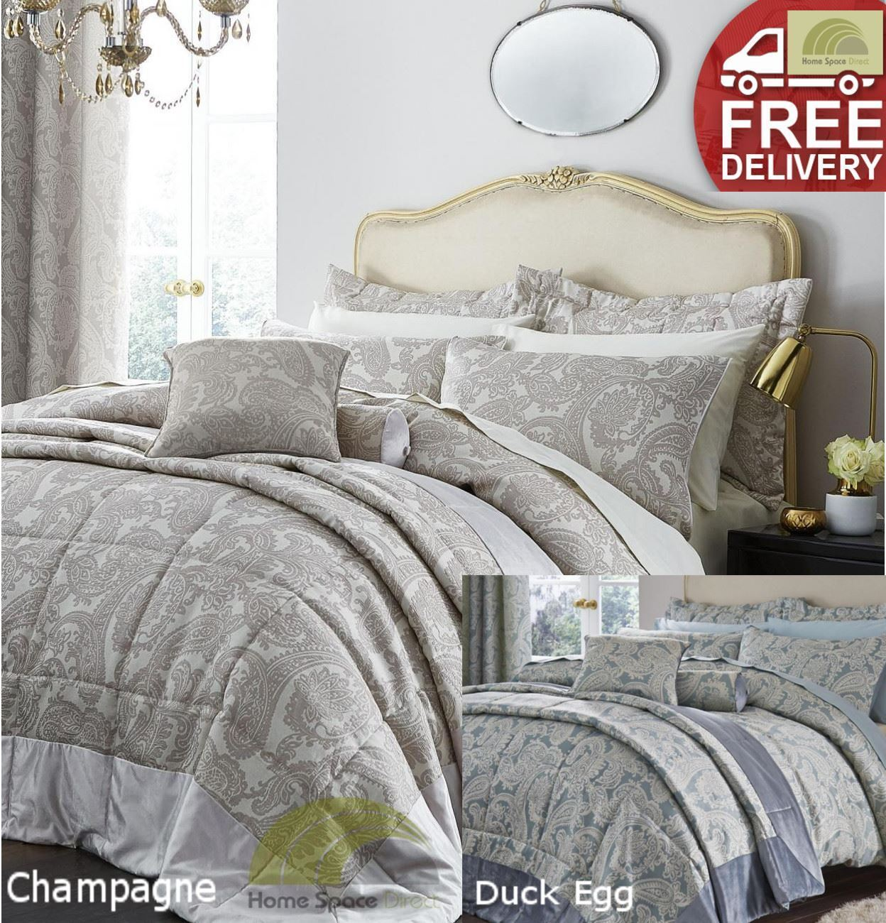 Luxury Jacquard Duvet Cover Set or Curtain or Bedspread or Cushion Or Pillowsham