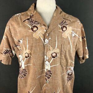 Prince-Kalakaua-VTG-60s-Aloha-Hawaiian-Shirt-Large-Reverse-Print-Barkcloth