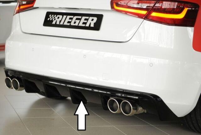 Rieger Utilisation Arrière Noir Brillant Audi A3 8V