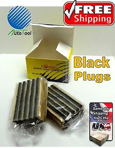 Black-Seal-Tire-Plugs-60-SEALS-100-SELF-VULCANIZING-TUBELESS-TIRE-REPAIR-PLUG