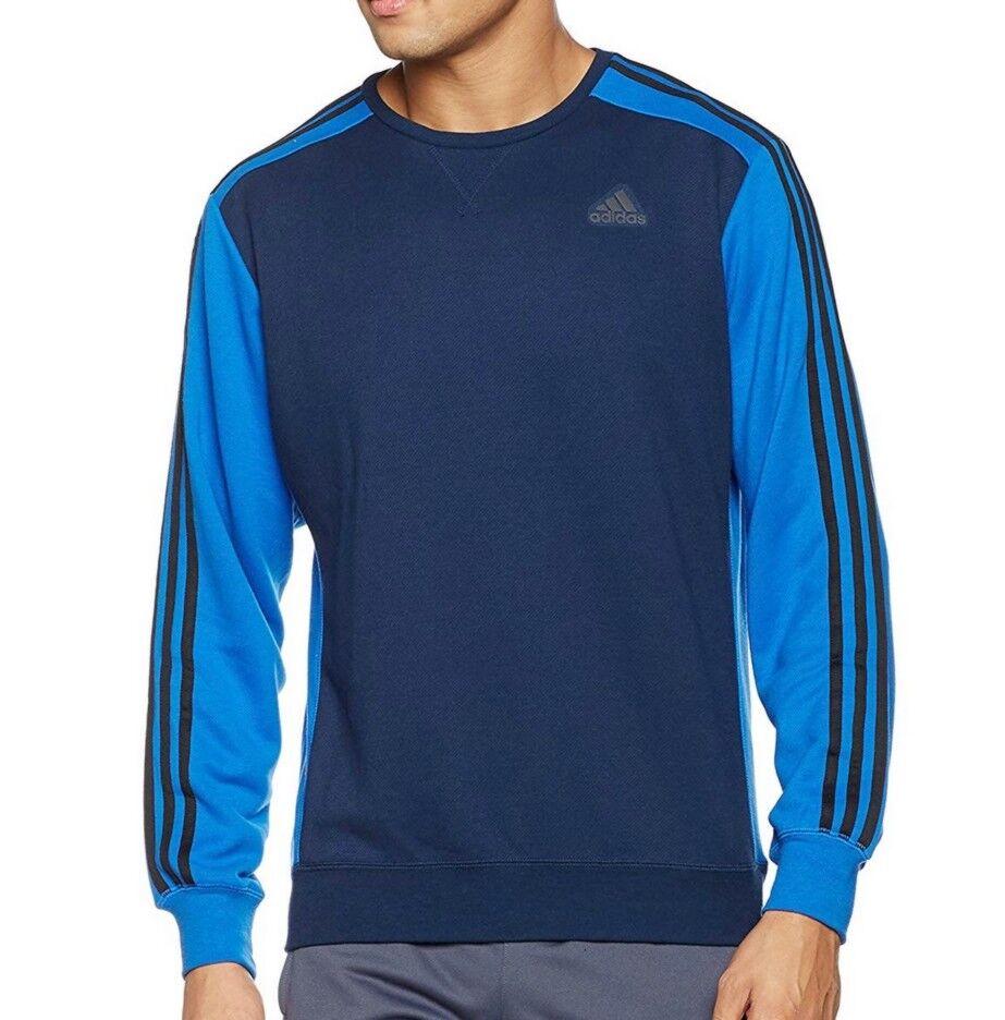 Adidas 3S Sweatshirt Pullover Longsleeve Climalite Warm Fleece Herren Blau  | Lebensecht