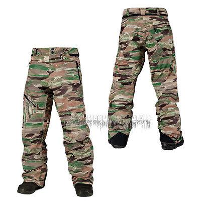 VOLCOM Mens 2015 Snowboard Snow Camouflage L GORE-TEX PANTS