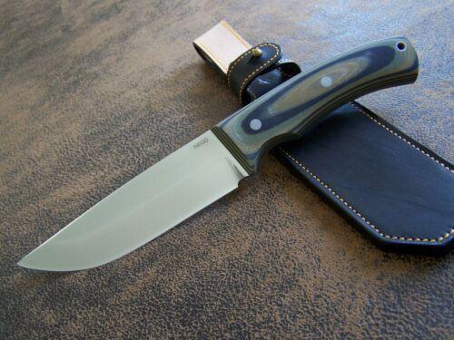 Brehms WOODCRAFTER--130 Exklusives Semi Custom Jagd-Outdoormesser N690 HRC-61 A