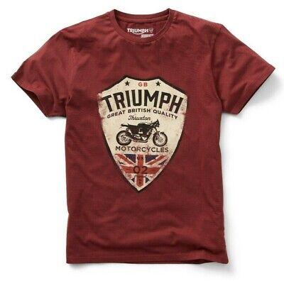 GENUINE TRIUMPH MOTORCYCLE T-SHIRT SS19 MUNT TEE UNION JACK
