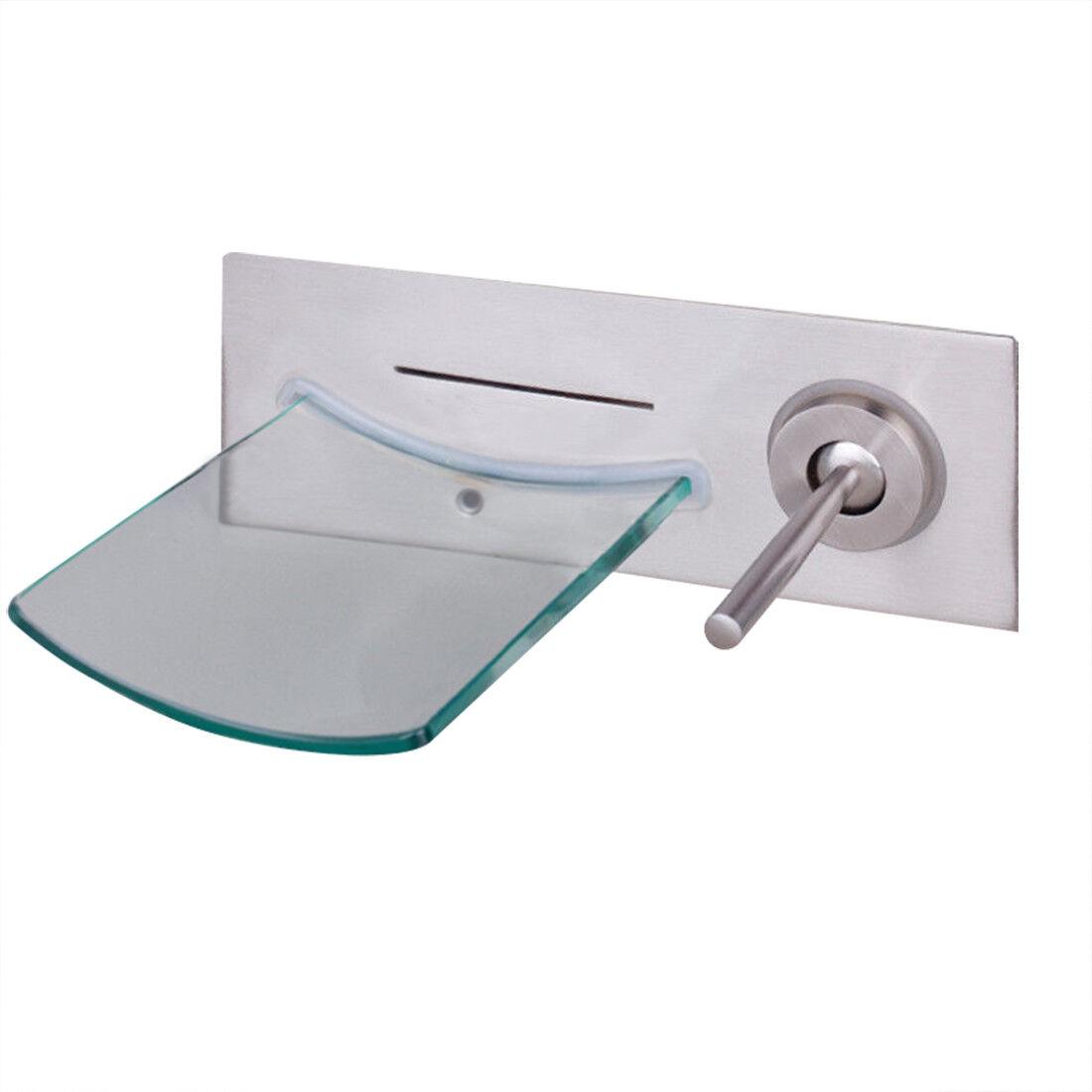 FS nichel spazzolato bacino lavandino rubinetto cascata vasca da bagno doccia Mixer Tap