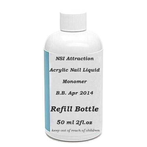 NSI Attraction Acrylic Nail liquid monomer False Tips 2.1 fl oz 50ml Refil
