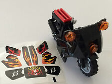 *BRAND NEW* Lego Minifig City  BLACK Motorcycle with STICKERS