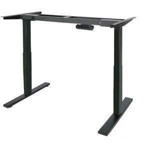 Dual Motoren Tischgestell Schreibtisch Elektrisch Höhenverstellbar Schwarz/Weiß