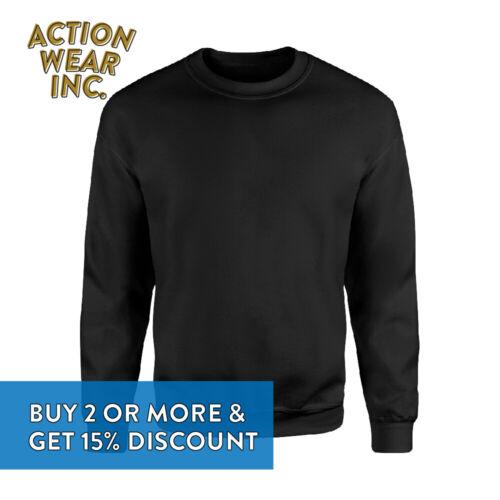 Casual Femme Homme Plaine Crewneck Pullover Sweater Fleece Sweat-shirt Roundneck