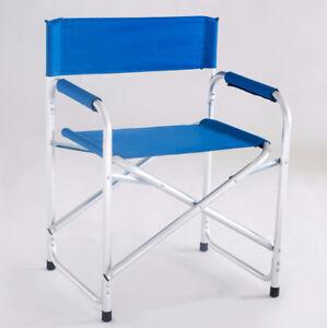 Silla-Director-Aluminio-Azul-De-Mar-Playa-Jardin-Plegable-Italy