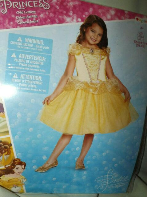 Belle Classic disney princess beauty and the beast kids girls costume dress