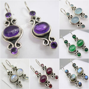 Vintage-Style-Earrings-925-Solid-Silver-Affordable-Wedding-Jewelry-Brand-New