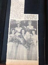 71-9 Ephemera 1957 Picture Barbara Wright Miss Ramsgate Edna Price M Walford