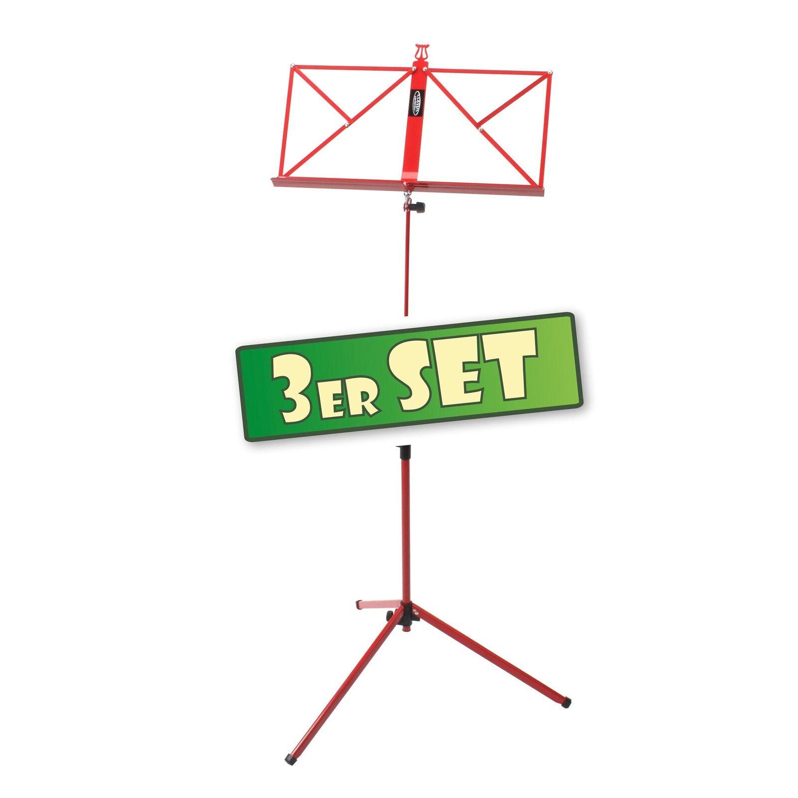 3x metal notas soporte notas stand notenpult notas trípode trípode trípode notas soporte estable rojo f92984