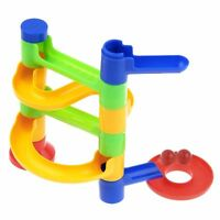 Kids Marble Run Race Set Building Blocks DIY Construction Toy Game Glass Marbles