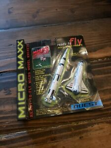 NEW-QUEST-MICRO-MAXX-SET-READY-TO-FLY-MODEL-2-ROCKET-SHUTTLE-SET-NASA-EDITION