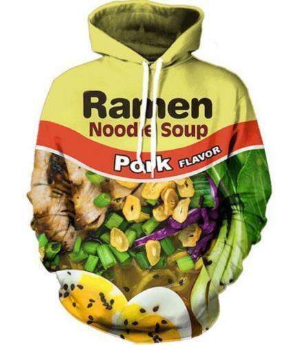 New Fashion Women//Men Ramen Noodle Soup 3D Print Casual Hoodie Sweatshirt Tops