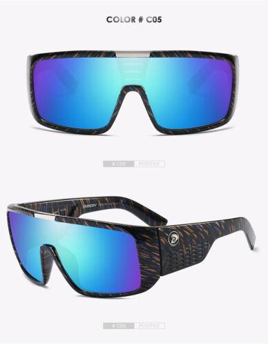 DUBERY Big Wide Legs Cycling Fishing Sunglasses Men Retro Frame Sports Goggles