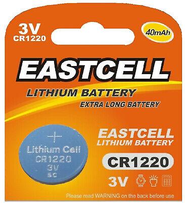 100 X Cr1220 3v Lithium Batterie Knopfzelle(20 Blistercard 5 Batterien)eastcell Spezieller Sommer Sale
