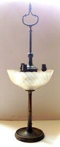 XIXeme-Siecle-Napoleon-III-IMMENSE-LAMPE-EN-BRONZE-3-LUMIERES-55-centimetres