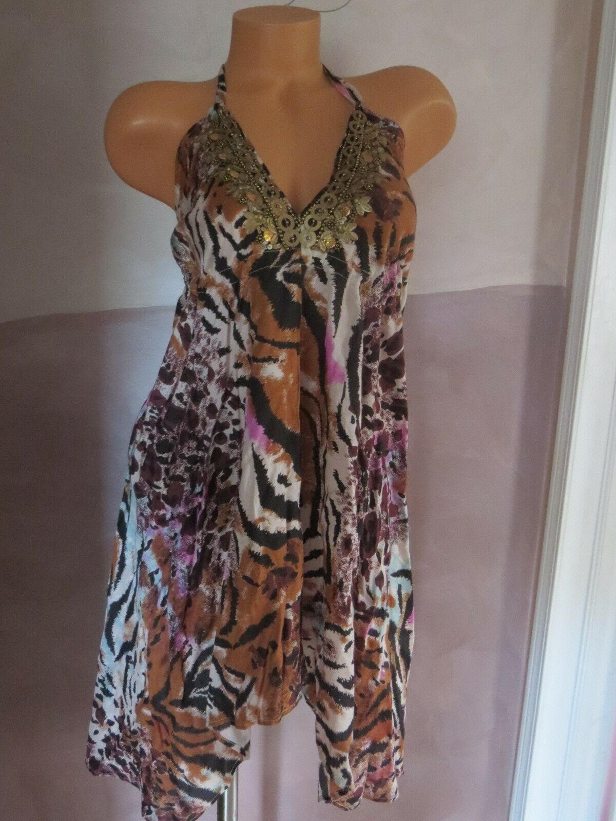 NEW    VICTORIA`S SECRET    VERY SEXY ANIMAL PRINT DRESS Größe X-SMALL