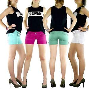 Das Bild wird geladen Damen-SeXy-Shorts-kurze-Hose-Jeans-Damenhose-Hueft- ff6feb72a0