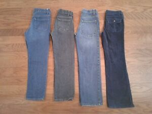Boys-4-Pce-Fall-Winter-LAND-039-S-END-CHEROKEE-FADED-GLORY-TCP-Jeans-Lot-Size-10