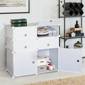 HOMCOM-Wardrobe-Storage-System-Interlocking-Cube-Bedroom-Clothes-Organizer