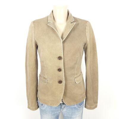 36 YAYA Women Fowy Draped Pocket Blazer Grau Gr