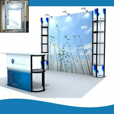 10ft Portable Twist Towers Backlit Trade Show Displays Booth Set Pop Up Stand