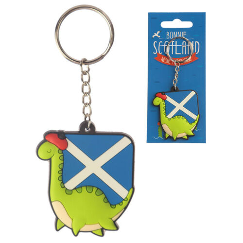 Novelty PVC Keyring Nessie BAG CHARM PARTY FAVOR BIRTHDAY PRESENT GIFT IDEA