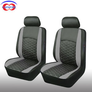 Surprising Details About 6 Pcs 2 Front Universal Seat Covers Gray Faux Leather Fit Car Truck Suv Van Pdpeps Interior Chair Design Pdpepsorg
