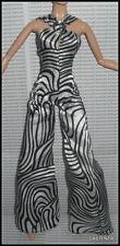 JUMPSUIT BARBIE POP LIFE DOLL MODEL MUSE MOD BLACK WHITE ZEBRA PRINT BODYSUIT