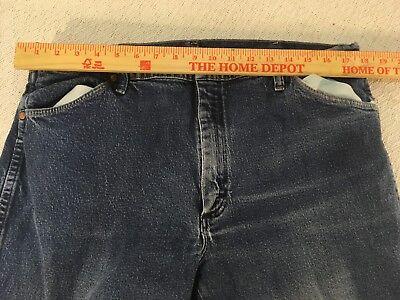 Mens Big Tall Wrangler 35001AN Cotton 58 X 34 Blue Denim Work Straight Leg Jeans