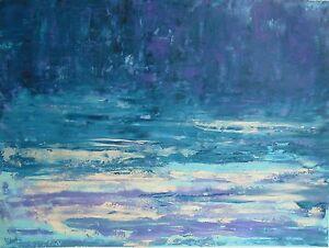 Paysage-marin-Peinture-sur-toile-Tableau-abstrait-signe-HZEN-61x46-PAYS-DE-DINA