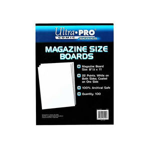 Ultra Pro Comic Storage Accessories - Backing Boards Magazine 100 per packet 74427811297