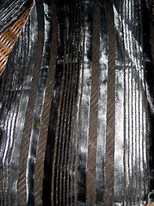 Eleganter-Ausbrennerschal-v-MEXX-chices-Streifenmuster-grau-schwarz-Samt-u-Seide