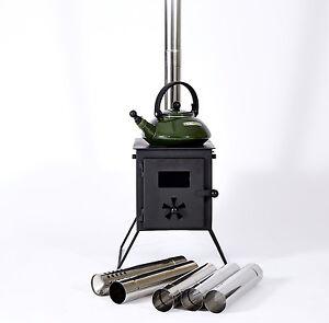 Image is loading Outbacker-039-Firebox-039-Portable-C&ing-Log-Burner-  sc 1 st  eBay & Outbacker® u0027Fireboxu0027 Portable Camping Log Burner Bell Tent Stove ...
