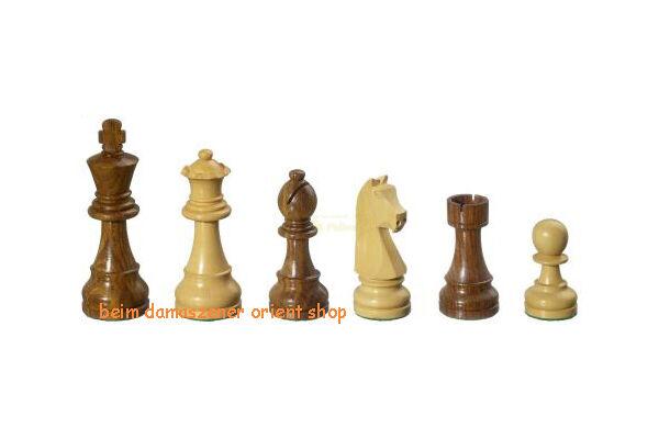 SUPER Holz Schachfiguren Arcadius Springer Handgeschnitzt  KH95 mm gewichtet NEU  | Heißer Verkauf