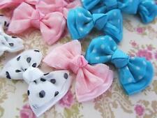 60 Polka Dot Satin Ribbon Grosgrain French Knot 2 Layer Bow F96-Dot Pick Color