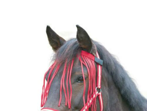 Mouches-fransenband mouches franges rouge foncé Poney sang total Warmblut NEUF
