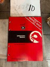 John Deere 8 Backhoe Loader Owner Operator Manual User Guide Omty20744 Nos