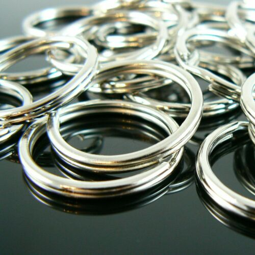 25 pcs. 24mm nickel plated OR gold plated split ring// key ring// key chain rings