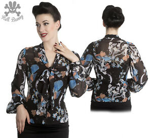 Hell-Bunny-Starry-Night-Top-Blouse-Rockabilly-XL-4XL