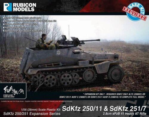 WW2 RU036 1//56-28mm RUBICON SDKFZ 250//11 /& 251//7 EXPANSION KIT