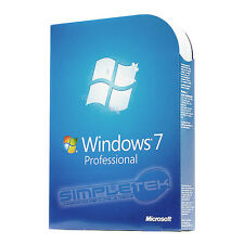 SCATOLA LICENZA WINDOWS 7 PROFESSIONAL BOX RETAIL ORIGINALE + DVD FULL MICROSOFT