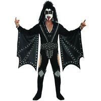 The Demon KISS Adult 70s Heavy Metal Rock Band Gene Simmons Halloween Costume